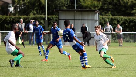 Kit Brown and Kambo Smith link up for London Colney. Picture: KEVIN LINES