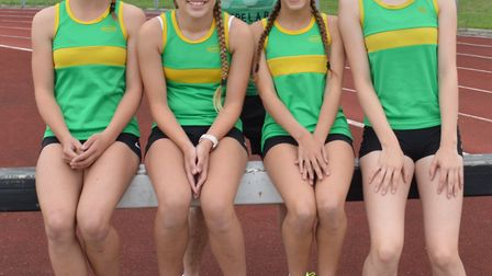 The Hunts Hurricanes are, left to right, Daisy Coulson-Bascombe, Morgan Smith, Macy Taylor and Lizzy