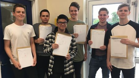 St Peter's School students collecting their A Level results