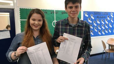 St Peter's School students Ann-Marie Norton and Cameron Scott