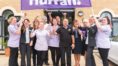 Field Lodge celebrates after receiving an overall 'good' rating by the Care Quality Commission.