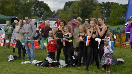 Crowds gathered to enjoy the event in Pidley