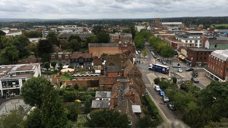 A view from St Peter's Church.