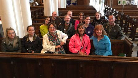 The group in St Peter's Church.