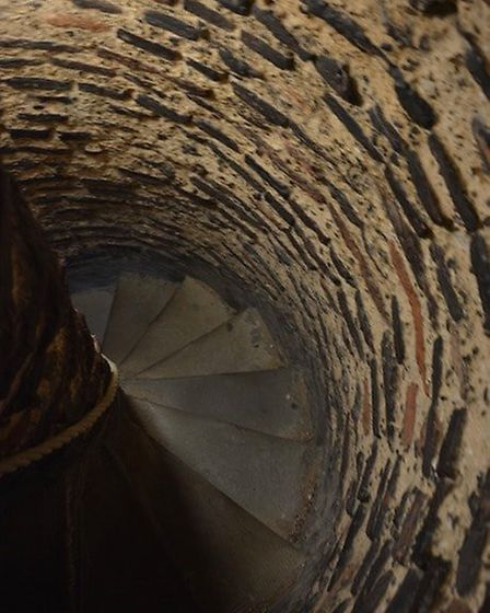 Steps up the tower in St Albans Cathedral. Picture: Dave Allen.