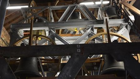 Bells in St Albans Cathedral. Picture: Dave Allen.