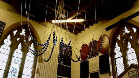 Bells in St Peter's Church. Picture: Dave Allen.
