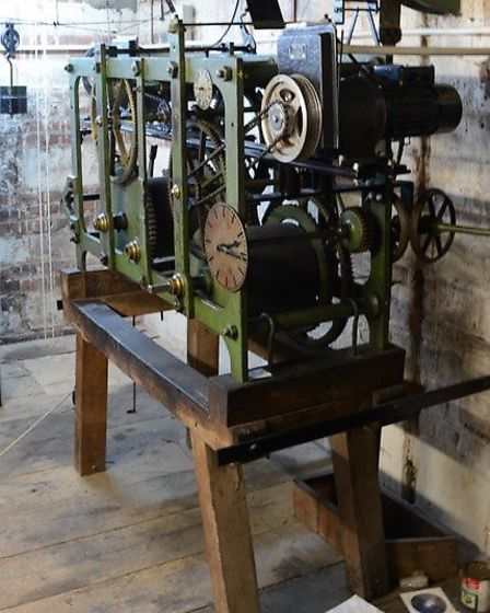 The bell ringing mechanism in St Peter's Church. Picture: Dave Allen.