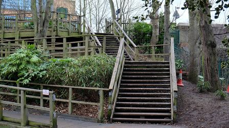 The former Hatfield Road bridge entrance to Clarence Park
