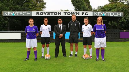 Showing off the new Royston Town Ladies FC kit. Photo: Kevin Richards
