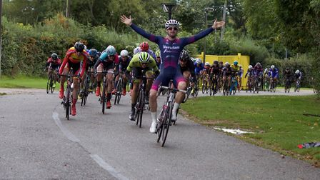 Marcel Six takes the win in stage two of the Team Milton Keynes Two-Day. Picture: PAUL HAIGH