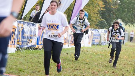 Young runners taking part in the Herts 10k in Harpenden.