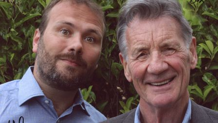 Left to right: John Finnemore and Michael Palin.