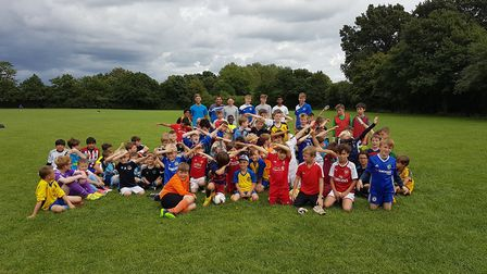 The St Albans City Youth coaching camp at Highfield Park was one of the best attended in the history