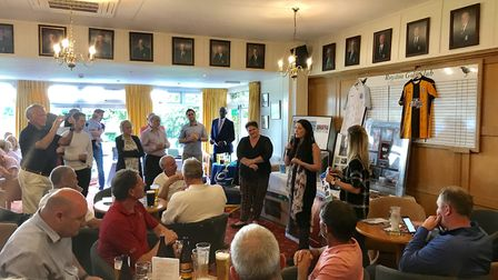 The auction at Royston Golf Club helped the golf day fundraiser total to reach £22,500. Picture: co