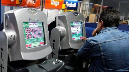 A fixed odds betting terminal. Photo: ARCHANT LIBRARY.