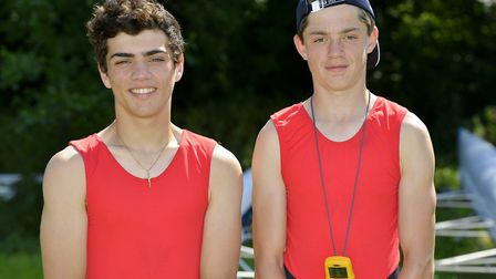Rory Crouch (left) and Sam Hasted enjoyed more success at the Cambridge '99 Autumn Regatta.