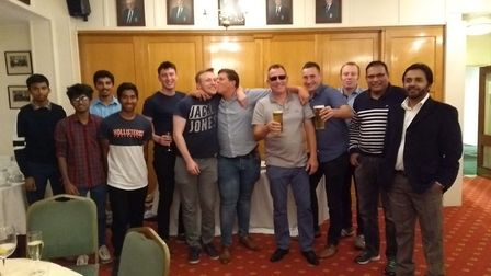 The second team in the bar at Royston CC. Credit Royston CC Twitter account