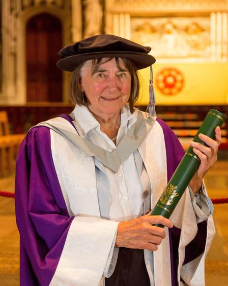 Diane Maclean at the University of Hertfordshire graduation ceremony 2017. Picture: Pete Stevens.