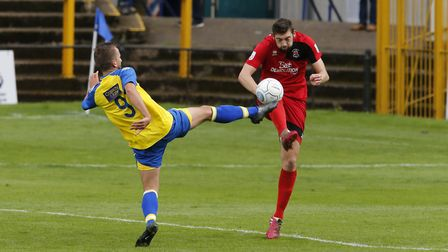 Sam Merson tries to stretch the Eastbourne defence. Picture: LEIGH PAGE