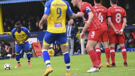Junior Morias scored a stunner when St Albans City met Carlisle United in last year's FA Cup first r