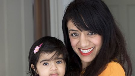 Rowena Vithlani with her daughter Laila, 11 months. Photo: Teri Pengilley.