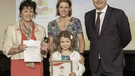 Archant sponsorship sales executive Ashleigh Jackson with Young Achiever of the Year winner Eleanor
