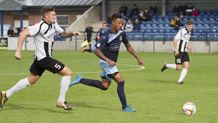 Dion Sembie-Ferris was among the St Neots Town goalscorers against Dorchester. Picture: CLAIRE HOWES