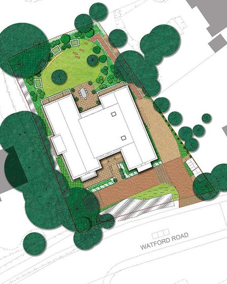 There will be a communal garden, plus private green space for each residence