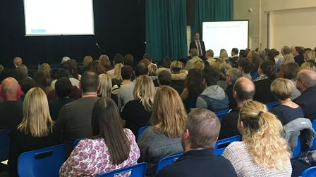 Dozens of people attended the meeting at Sawtry Academy.