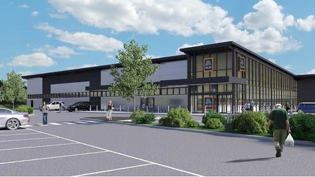 An artist's impression of how the new Aldi store could look.