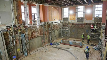 The new basement in St Albans museum which will be a lower gallery room. Picture: Danny Loo