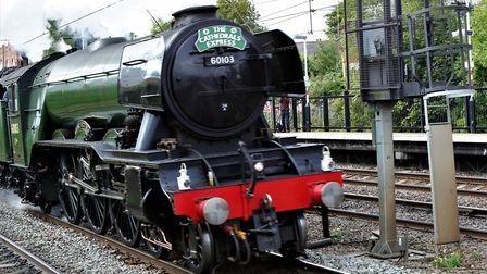 Engine no 60103 Flying Scotsman. London Victoria to Whitby, Cathedral Express, operated by Steam Dre