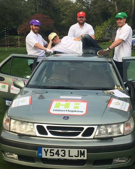 Banger to Bangor rally 2017: The Ginder team as the Mario Brothers.