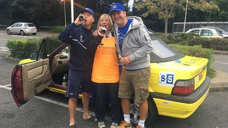 Banger to Bangor rally 2017: St Albans City FC and Rayner Essex team.