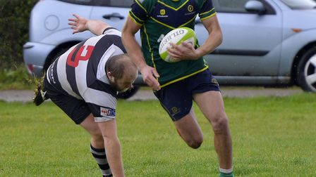Stags man Andy Mourits saw a try disallowed against Bedford Athletic.