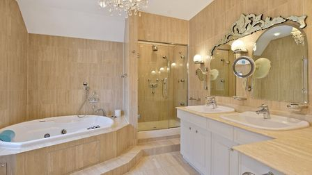 One of the property's five bathrooms