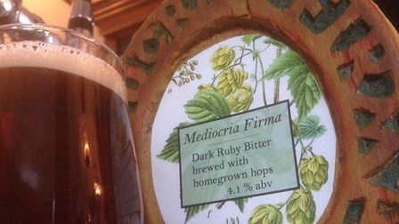 Mediocria Firma, a beer from the Foragers Brewery at The Verulam Arms. Photo: FORAGERS BREWERY