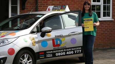 Amanda Green, who has been named driving instructor of the year. The competition is run as part of l