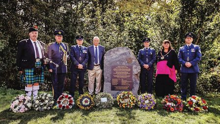 The memorial service in Godmanchester on Sunday