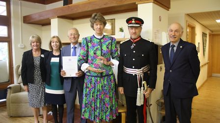 Professor Stephen Spiro, chair of trustees at Rennie Grove and a volunteer, accepted the award from