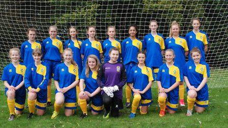 The new U15 side for St Albans Ladies.