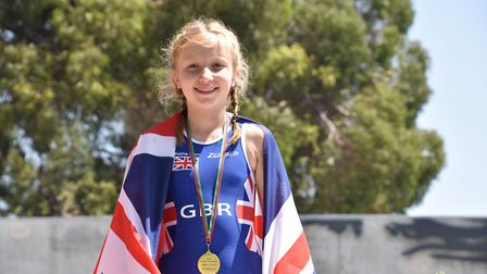 Raissa Vickery of St Albans won three gold medals and a silver in the Biathle & Triathle European Ch