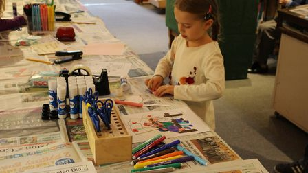 Children have been enjoying 'historical crafterdays' at Royston's district museum. Picture: Royston