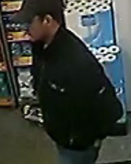 CCTV images of the man police would like to speak to.
