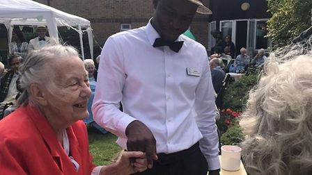 A garden party Fosse House residents attended in August.