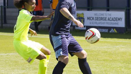 Danny Watson hit St Neots Town's goal in their FA Cup exit. Picture: CLAIRE HOWES