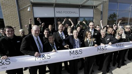 Jo Malins and the team open the new Marks and Spencer store.
