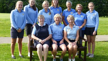 The Cambs & Hunts Ladies second team are back row, left to right, Lindie Tapping, Morgan Tritton, Ka
