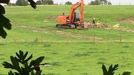 The archaeological dig near Batford. Picture: Hillary Taylor